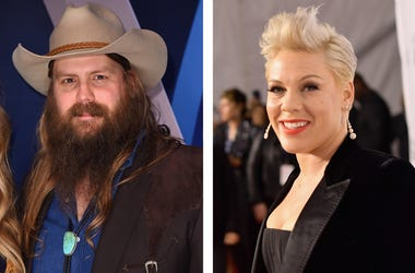 Chris Stapleton and P!nk (Photo credit: Michael Loccisano/Matt Winkelmeyer/Getty Images)