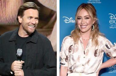 Ewan McGregor and Hilary Duff (Photo credit: Jesse Grant/Alberto E. Rodriguez/Getty Images)