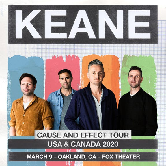 KEANE - 'Cause and Effect' Tour