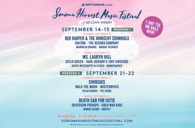 BottleRock Presents The Sonoma Harvest Music Festival