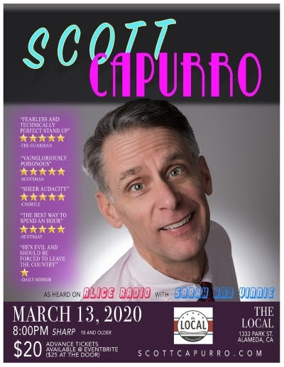 Scott Capurro March 13th