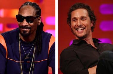 Snoop Dogg and Matthew McConaughey on The Graham Norton Show (Photo credit: PA Images/Sipa USA)