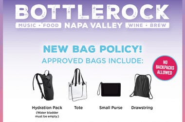 BottleRock bag policy