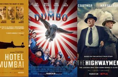 Hotel Mumbai, Dumbo, The Highwaymen Movies