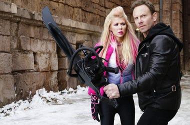 Tara Reid & Ian Ziering in 'Sharknado'