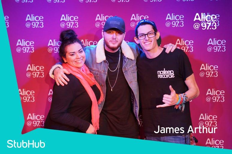 James Arthur Meet-N-Greet On The StubHub Stage In The Alice Lounge