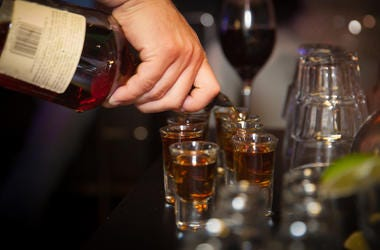Pouring shots, Alcohol