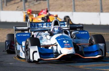 September 17, 2017; Sonoma, CA, USA; IndyCar Series driver Scott Dixon (9) drives thru turn 9 during the GoPro Grand Prix of Sonoma at Sonoma Raceway. Mandatory Credit: Kyle Terada-USA TODAY Sports