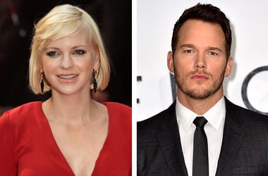 """4/21/2017 - File photos of Anna Faris and Chris Pratt. Anna Faris has thanked Chris Pratt for being her """"rock"""" after the premature birth of their son as the actor was honoured on the Hollywood Walk of Fame. (Photo by PA Images/Sipa USA)"""