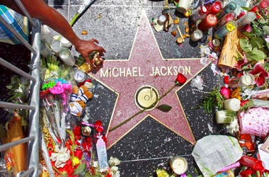 Michael Jackson on the Hollywood Walk of Fame