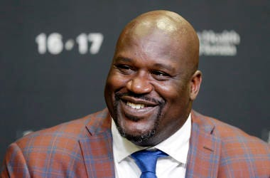 In this Dec. 22, 2016, file photo, retired Hall of Fame basketball player Shaquille O'Neal smiles as he talks to reporters during an NBA basketball news conference in Miami. O'Neal has been to enough parties before Super Bowls to know that he can do much