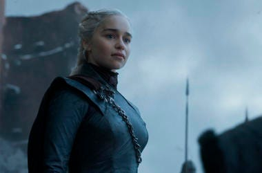 "This image released by HBO shows Emilia Clarke in a scene from the final episode of ""Game of Thrones."" On Tuesday, July 16, 2019, Clarke was nominated for an Emmy Award for outstanding lead actress in a drama series. (HBO via AP)"