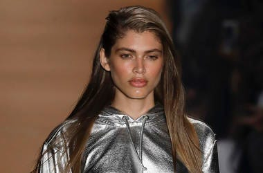 In this March 16, 2017, file photo Brazilian transgender model Valentina Sampaio wears a creation from the Amir Slama collection during Sao Paulo Fashion Week in Sao Paulo, Brazil. (AP Photo/Andre Penner, File)