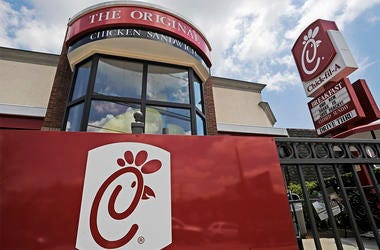 This July 19, 2012, file photo shows a Chick-fil-A fast food restaurant in Atlanta. (AP Photo/Mike Stewart, File)