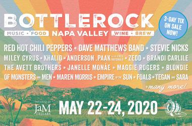 BottleRock Tickets on sale NOW