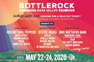BottleRock Single Day Tix Sold Out