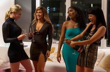 Lili Reinhart, Jennifer Lopez, Keke Palmer, and Constance Wu star in 'Hustlers'  Motion Picture Artwork © 2019 STX Financing, LLC. All Rights Reserved.