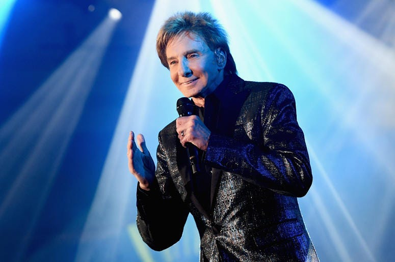 PHOENIX, AZ - MARCH 23: Barry Manilow performs onstage during Celebrity Fight Night XXV on March 23, 2019 in Phoenix, Arizona. (Photo by Emma McIntyre/Getty Images for Celebrity Fight Night)