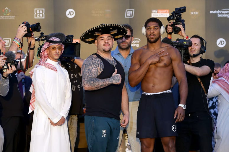 Andy ruiz y Anthony Joshua