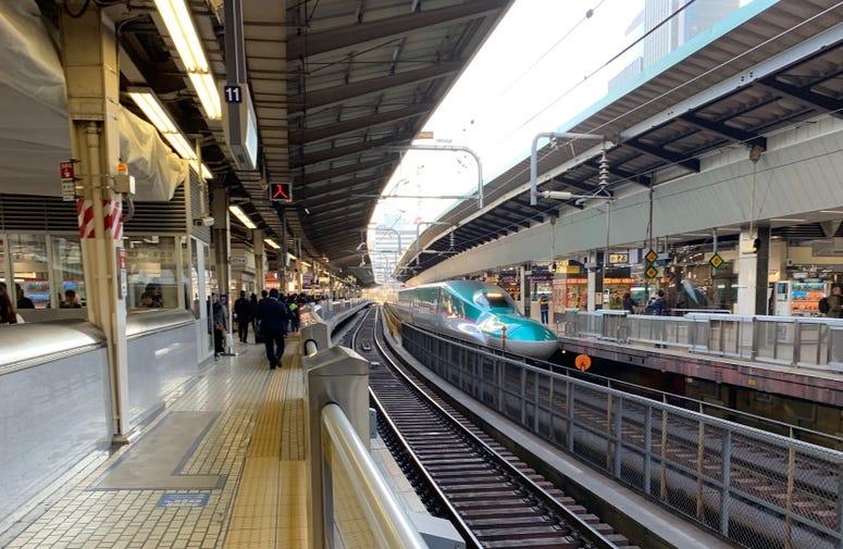 Skinkansen Train at Tokyo Station