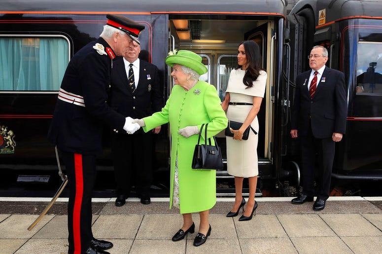 Meghan and Queen Elizabeth