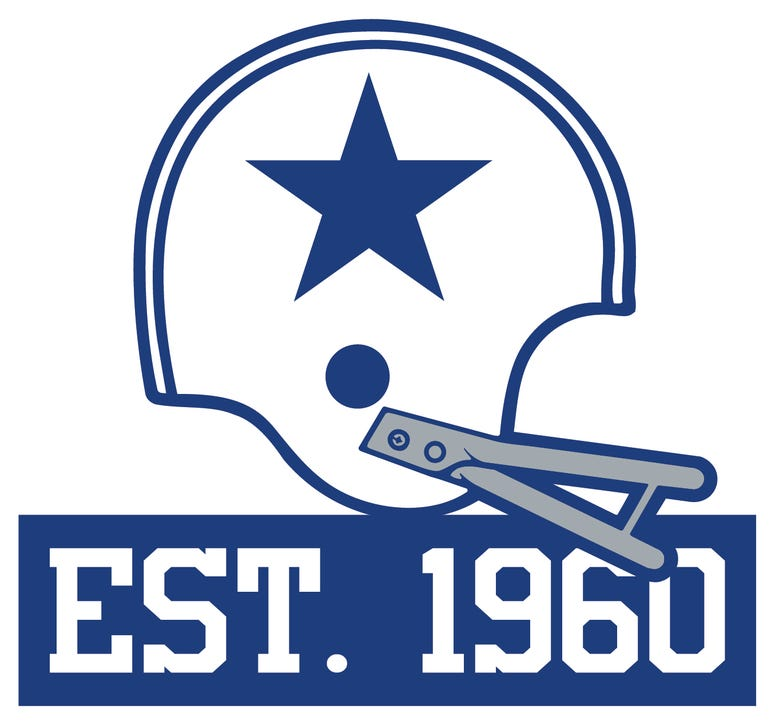 Dallas Cowboys official 60thAnniversary logo that will be used throughout the year-long celebration.