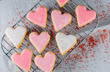 Heart Cookies, Cooling Rack, Valentine's Day, Heart, Cookies
