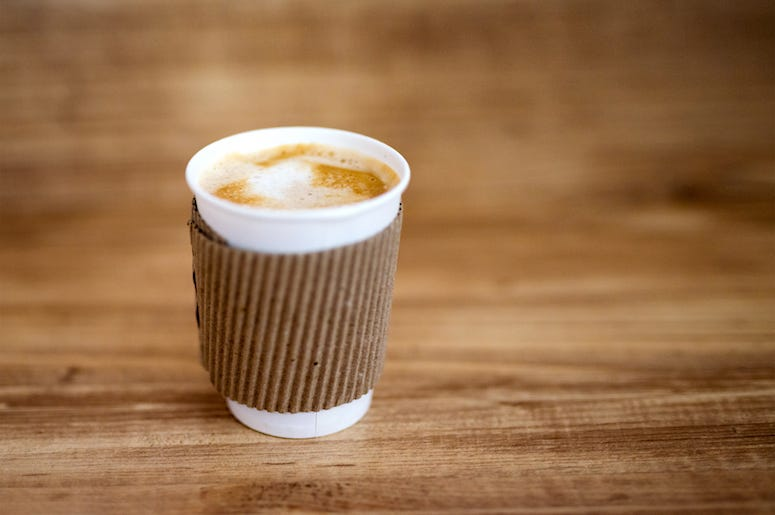 Coffee, Paper Cup, Wooden Table