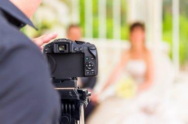 Wedding Photographer, Bride, Groom, Blurry, Wedding