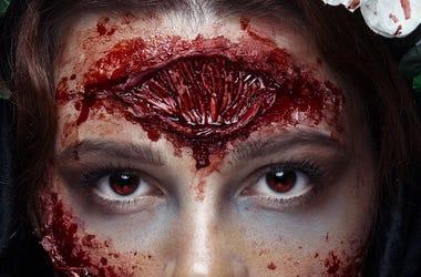 Zombie, Makeup, Girl, Make Up, Girl, Bloody