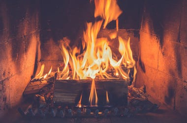Logs, Fireplace, Fire