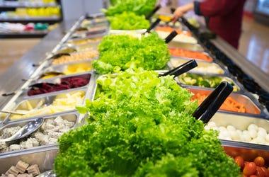 Salad Bar, Supermarket, Lettuce