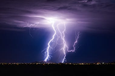 Thunder, Lightning, Sky, Storm, Clouds