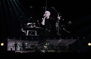Phil Collins performs during a stop of his Not Dead Yet Tour at MGM Grand Garden Arena on October 27, 2018 in Las Vegas, Nevada