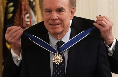 Presidential Medal of Freedom to Hall-of-Fame quarterback Roger Staubach during an East Room ceremony November 16, 2018 in Washington, DC.