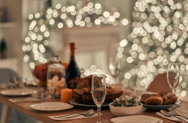 Christmas, Dinner, Decorations, Lights, Pretty, Table