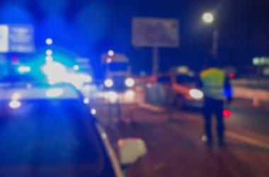 Blurry, Traffic, Police Lights