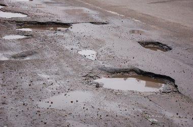 Pothole, Road, Street, Asphalt