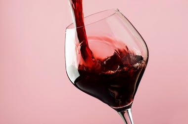 Wine, Glass, Pour, Dry Red Wine
