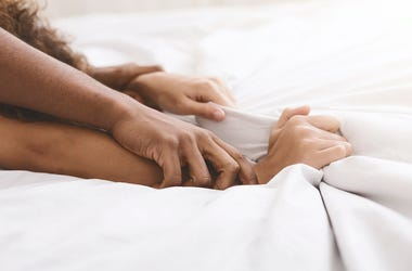 Couple, Bed, Romance, Sex, Arms, Hands, Intertwined