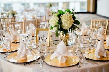 Wedding, Reception, Table, Flowers