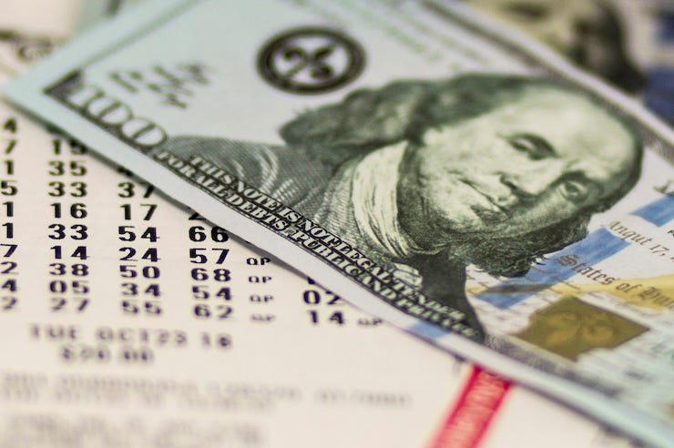 Money, Cash, Lottery Ticket