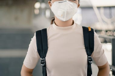 Student, Backpack Surgical Mask