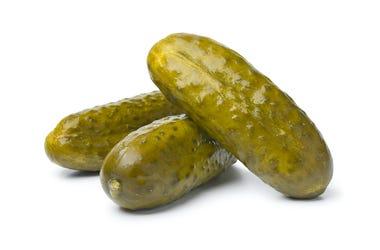 Pickle, Pickled Gherkins, White Background
