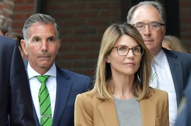 BOSTON, MA - APRIL 03: Lori Loughlin exits the John Joseph Moakley U.S. Courthouse after appearing in Federal Court to answer charges stemming from college admissions scandal on April 3, 2019 in Boston, Massachusetts.