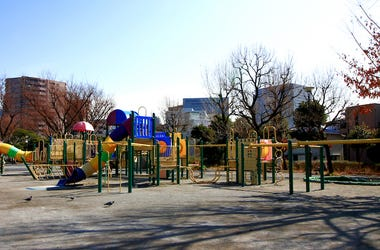 Playground, Equipment, Empty, City
