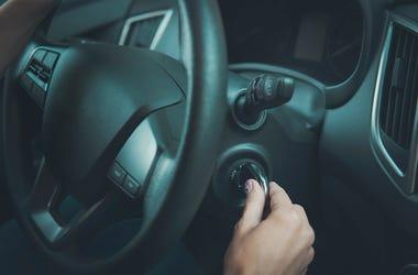 Girl, Hands, Steering Wheel, Key