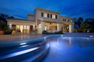 Mansion, Pool, Mediterranean villa