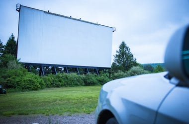 Drive-In, Movie Screen, Outdoors