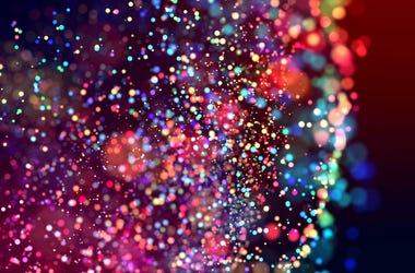 Glitter, Sparkles, Dark Background